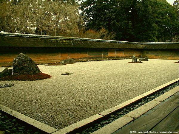 500 Year Old Zen Rock Garden, Ryoanji Temple, Kyoto   03.02.2001